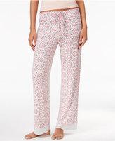 Jockey Contrast Boarder Hem Printed Pajama Pants