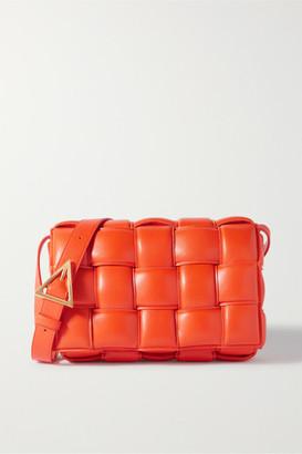 Bottega Veneta Cassette Intrecciato Quilted Leather Shoulder Bag - Orange