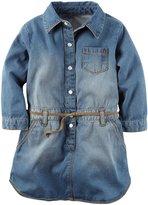 Carter's Chambray Shirt Dress (Toddler) - Denim - 8