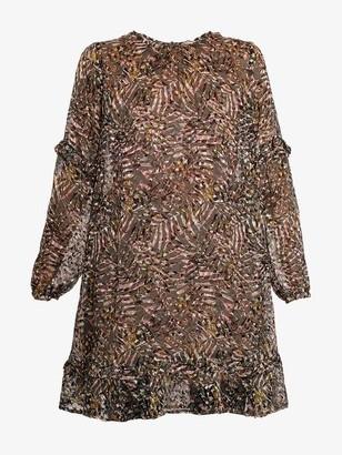 Project Aj117 - Gwyneth Printed Devore Dress Army - M