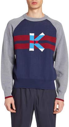 Kenzo Men's Logo Intarsia Sweater
