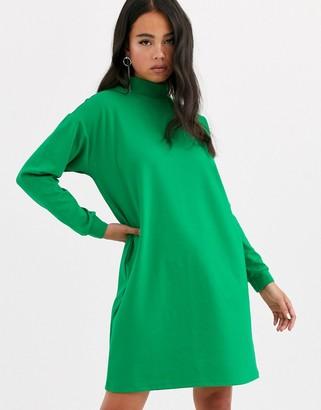 Noisy May oversized jumper dress-Green
