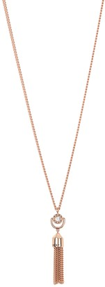 "DKNY Chain Tassel Pendant 36"" Long Necklace"