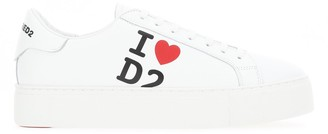 DSQUARED2 I love D2 Print Low-Top Sneakers