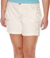 Arizona Boyfriend Denim Shorts - Juniors Plus