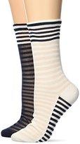 Tommy Hilfiger Women's TH Classy Varsity 2P Socks,6/8 pack of 2