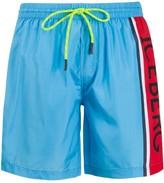Iceberg side logo stripe swim shorts