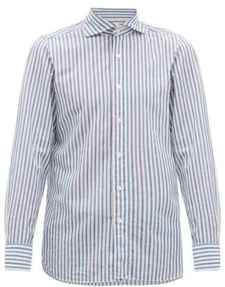Finamore 1925 - Geata Striped Cotton-blend Shirt - Mens - White Multi