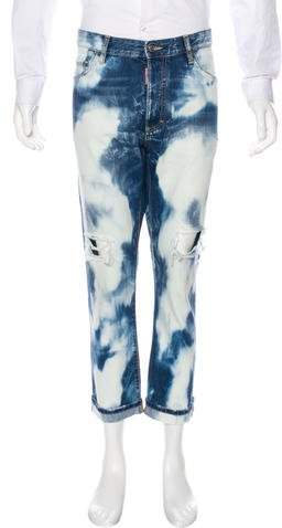 DSQUARED2 2017 Cropped Distressed Slim Jeans