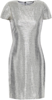 Alice + Olivia Delora Metallic Stretch-knit Mini Dress