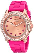 Juicy Couture Women's 1901190 Pedigree Rose Gold-Tone Watch with Silicone Strap