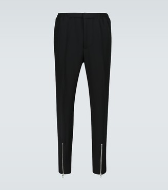 Alexander McQueen Pants with ankle zippers