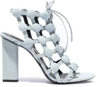 Alexander Wang Rubie Studded Denim Sandals