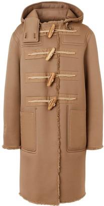 Burberry reversible hooded duffle coat