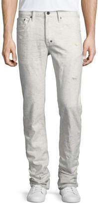 PRPS Demon Flecked & Distressed Slim-Straight Jeans