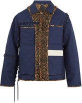 Craig Green Quilted contrast-panel cotton field jacket