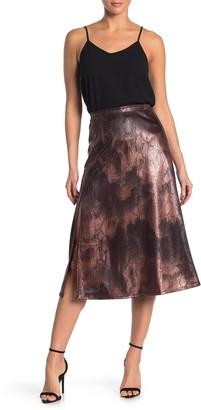 Free Press Textured Snake Print Midi Skirt (Regular & Plus Size)