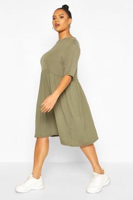 boohoo Plus Jersey Smock Dress