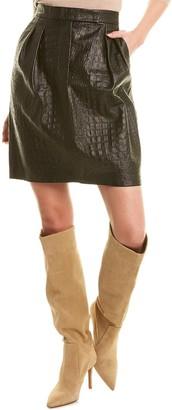 Max Mara Manila Leather Skirt