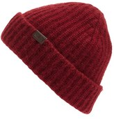 Hickey Freeman Men's Cuffed Cashmere Beanie - Red