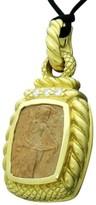 Judith Ripka Cameo 18K Yellow Gold Diamond Pendant