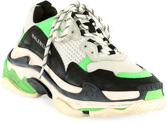 Balenciaga Men's Triple S Mesh & Leather Sneakers