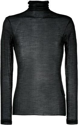 Ann Demeulemeester Sheer Roll-Neck Jumper