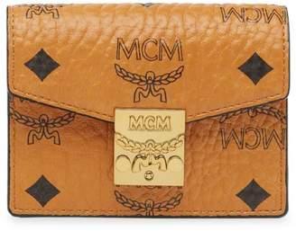 MCM Patricia Visetos Coated Canvas Card Holder