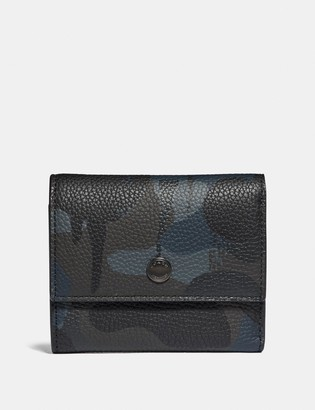 Coach Trifold Snap Wallet With Wild Beast Print