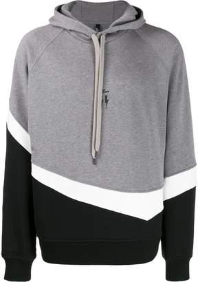 Neil Barrett colour block hoodie