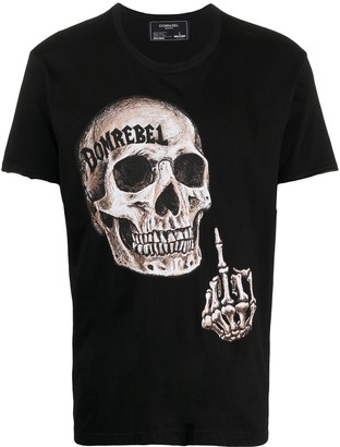 Dom Rebel skull print T-shirt