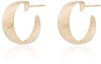 Loren Stewart 10kt yellow gold Baby Dome hoop earrings