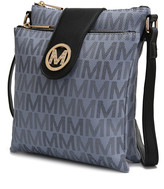Mkf Collection By Mia K. MKF Collection by Mia K. Women's Handbags Grey - Gray Logo-Accent Crossbody Bag