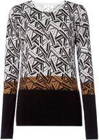 Linea Geo print rib jumper