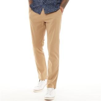 Fluid Mens Chino Trousers Caramel