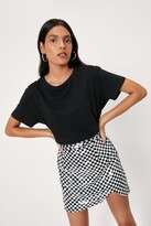 Thumbnail for your product : Nasty Gal Womens Checkerboard Design Sequin Mini Skirt - Mono - 14