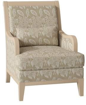 Canterbury of New Zealand Hekman Lodi Armchair Hekman Body Fabric: 4013-344, Leg Color: Canterbury, Seat Cushion Fill: Spring Feather Down