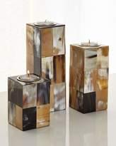 John-Richard Collection Caramel & Cream Candleholders, 3-Piece Set
