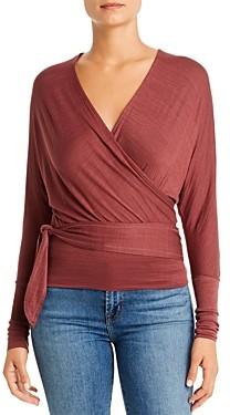 Elan International Long-Sleeve Wrap Top