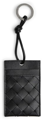Bottega Veneta Leather Intrecciato Keyring Card Holder