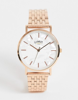 Limit bracelet watch in rose gold