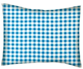 Sheetworld Twin Pillow Case - Percale Pillow Case - Turquoise Gingham Check