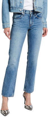 SLVRLAKE Tyler Mid-Rise Slim Straight Jeans