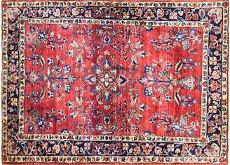 """One Kings Lane Vintage 3'4"""" x 4'10"""" Antique Persian Sarouk Rug - Eli Peer Oriental Rugs - blue/red"""