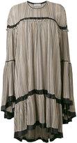Sonia Rykiel striped ruffled dress - women - Silk/Viscose - M