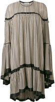 Sonia Rykiel striped ruffled dress - women - Silk/Viscose - S