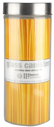 clear Online X-Large 67oz. Round Glass Canister with Air-Tight Stainless Steel Twist Top Lid,