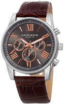 Akribos XXIV Unisex Brown Strap Watch-A-911ssbr