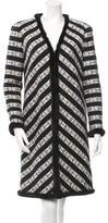 Chanel Mink-Trimmed Tweed Coat