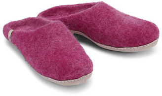 Egos Copenhagen - Natural Felted Fair Traded Slippers in Cerise - wool | 38 ( 5) | pink - Pink/Pink